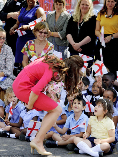 Kate was amused when one of the children told her their favourite part of the school day is lunchtime