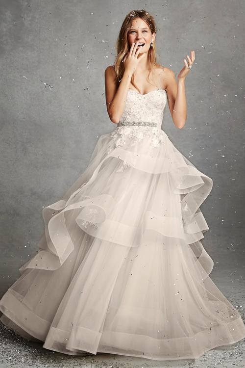 Váy cưới Monique Lhuillier 2015 đẹp dịu dàng