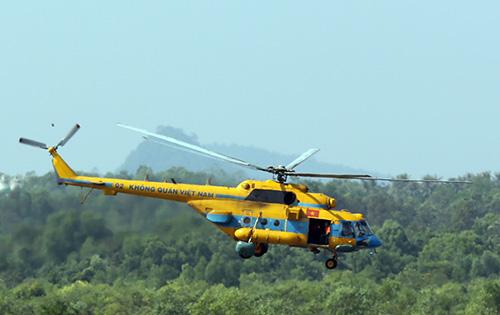 Máy bay Mi-171 hoạt động trong biên chế Không quân Việt Nam với vai trò tìm kiếm cứu nạn.