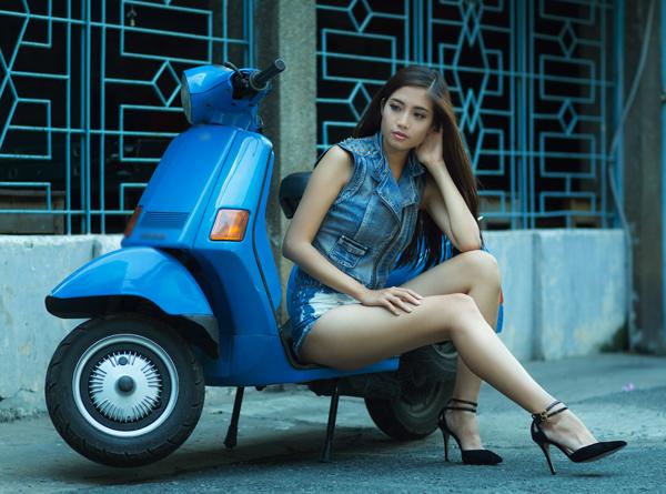Ninh Hoàng Ngân,girl khoe chân dài sexy