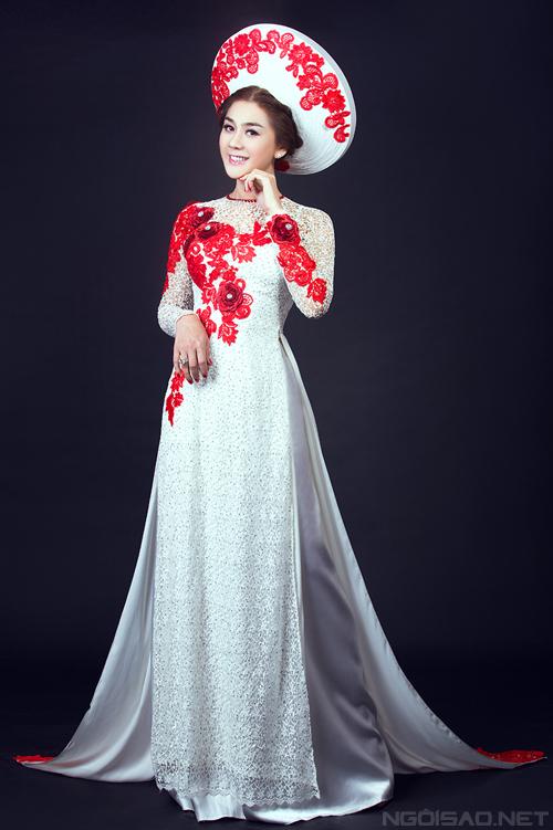 Lâm Chi Khanh diện áo dài cưới đẹp mê hồn 2