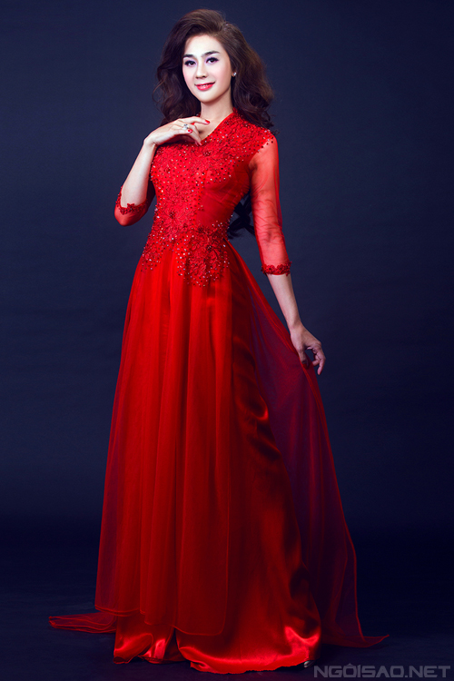 Lâm Chi Khanh diện áo dài cưới đẹp mê hồn 6