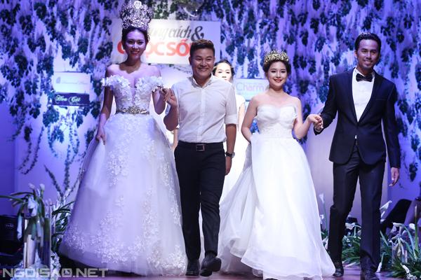 Cô dâu của Duy Nhân kiêu sa diện váy cưới