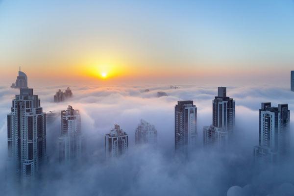 Cả thành phố Dubai ẩn hiện trong