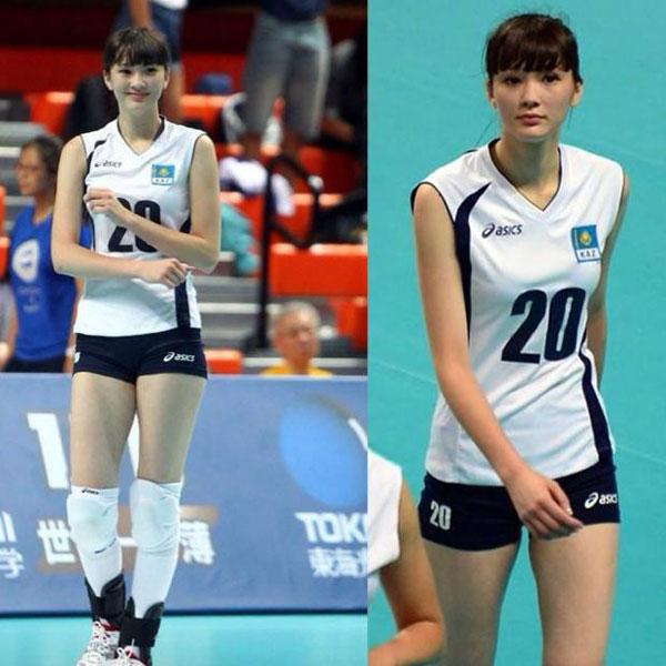 Sabina có nhan sắc nổi bật, gây xao xuyến tại giải vô địch bóng chuyền U19 châu Á tại Đài Loan.