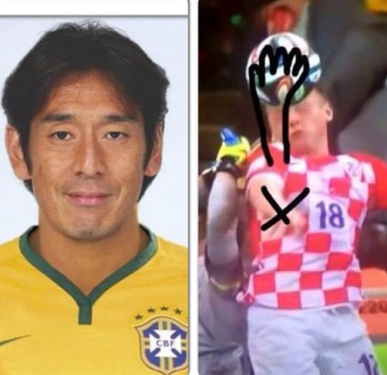 Tại World Cup 2014, cô vợ Anita của Lovren được các fan nhớ tới khi đăng tải bức ảnh trọng tài Nhật Nishimura