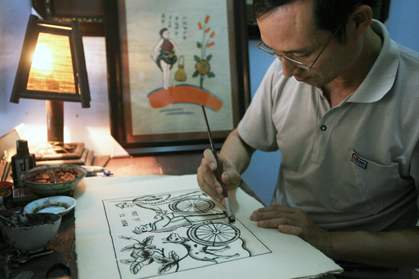 Nghệ nhân Nguyễn Hữu Quả.
