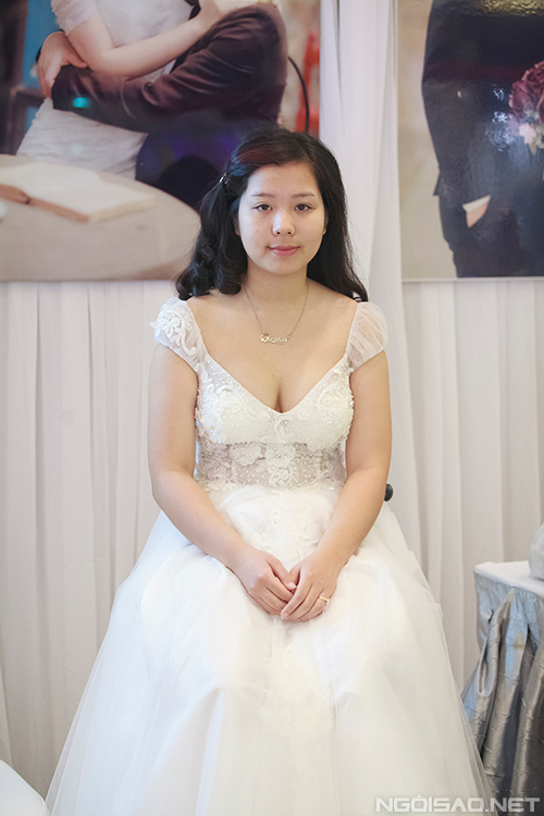 Trang điểm tự nhiên cho cô dâu mặt tròn