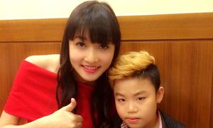 Triệu Thị Hà thân thiết với Psy nhí