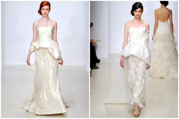 Váy peplum là gợi ý tuyệt vời cho cô dâu thích dáng ôm nhưng không lộ eo