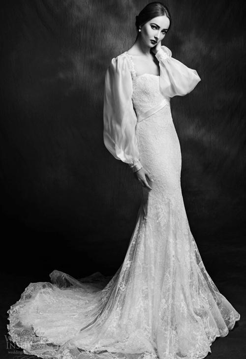 Váy cưới ren đẹp cổ điển, quý phái
