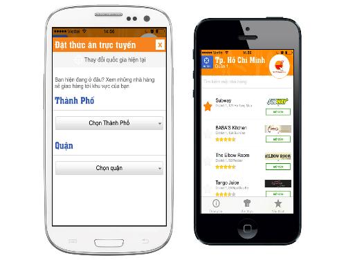 Ứng dụng đặt thức ăn trực tuyến cho iOS và Android của Vietnammm.com hoàn toàn miễn phí