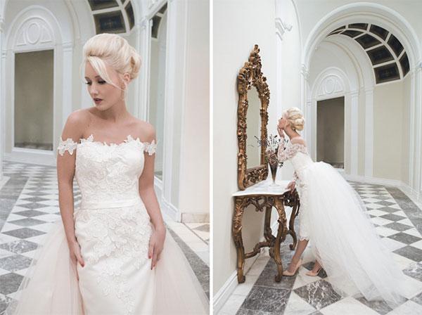 Váy cưới ngắn để chụp ảnh cưới và đãi tiệc