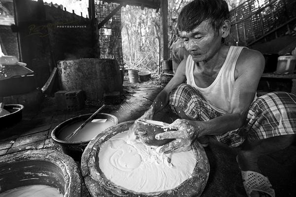 Mộc mạc nghề bún cổ truyền Bình Định