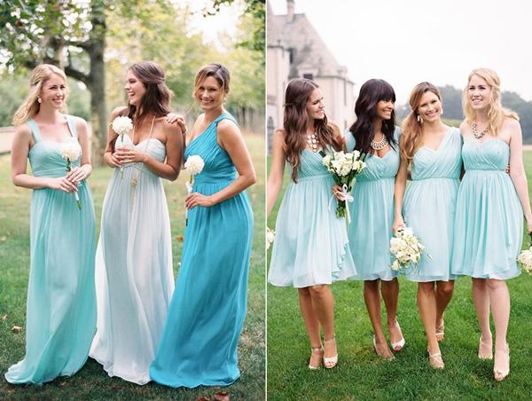 Phù dâu có thể chọn váy ngắn hiện đại hoặc dáng dài yểu điệu, thướt tha. Ảnh: CCW.