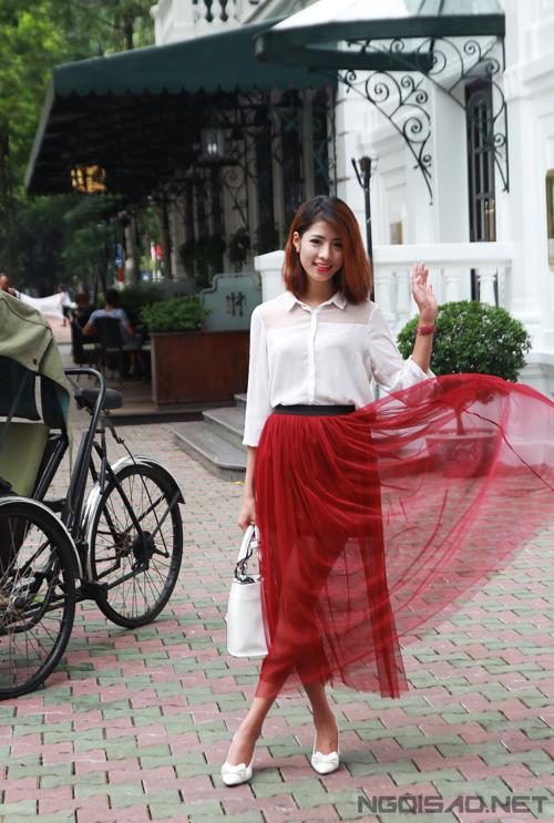 Style linh hoạt, nổi bật của người đẹp Miss Ngôi Sao