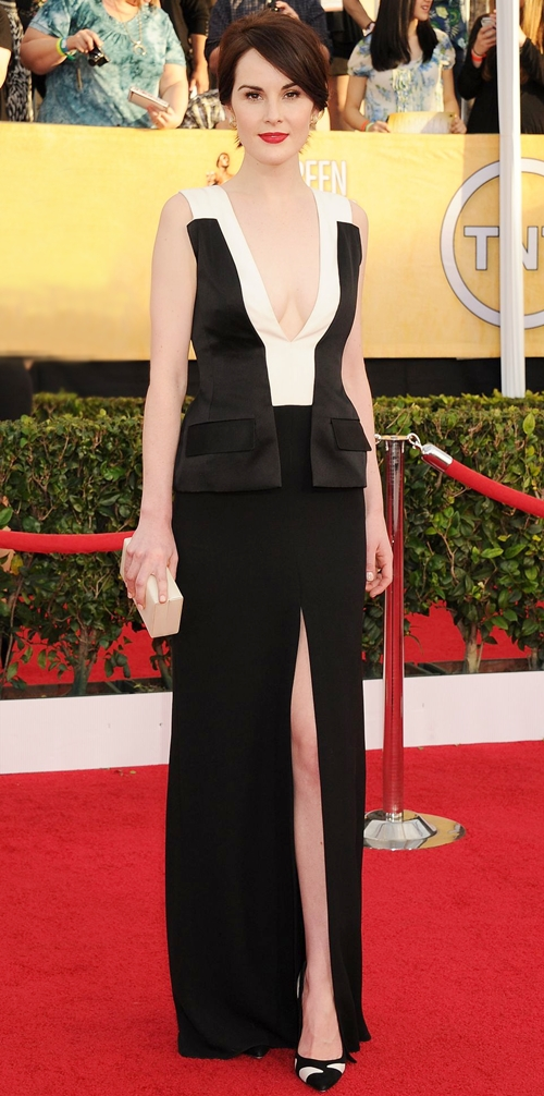 michelle-dockery-at-2014-sag-awards-in-l