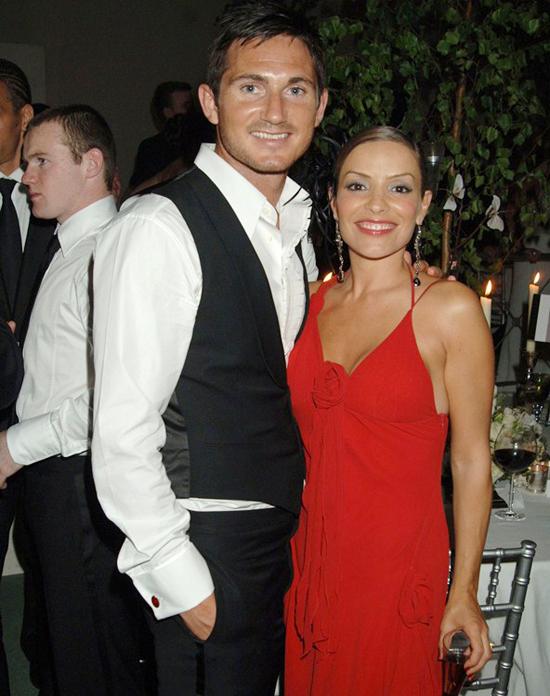 Frank Lampard và vợ đầu Elen Rives đến với nhau năm 2002