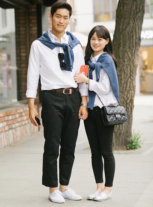 Những cặp đôi Hàn khoe style trên phố