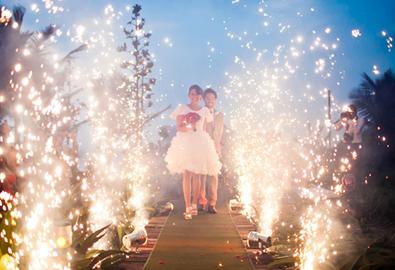 Khung cảnh kết thúc lễ thành hôn lung linh