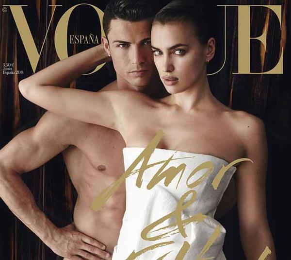 Khi C. Ronaldo và Irina Shayk cùng nhau thực hiện bộ ảnh táo bạo trên Vogue, không ít