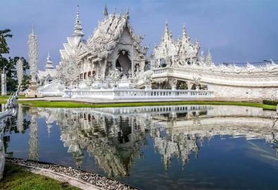 Đền thờ màu trắng kỳ lạ ở Thái Lan