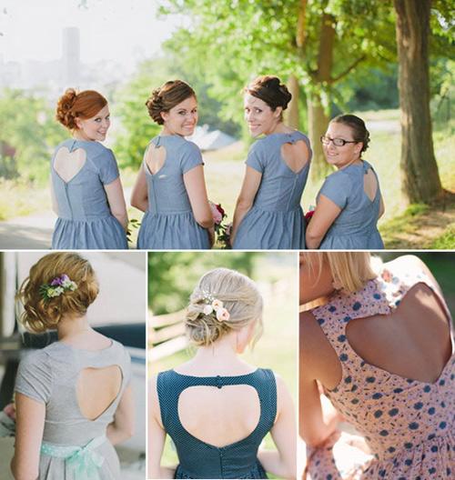 Váy phù dâu tô điểm màu sắc cho bữa tiệc sôi nổi.