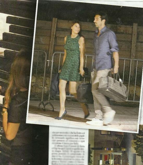 Tạp chí Chi mới đây đăng loạt ảnh về một buổi hẹn hò lãng mạn của Buffon và