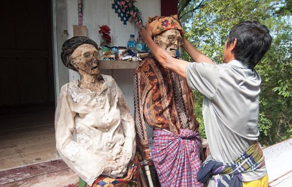 Dân làng Toraja ở tỉnh South Sulawesi cho biết, tục lệ này có tên là MaiNene, còn gọi là Lễ tắm rửa cho các hài cốt. Người dân ở đây tin rằng sau khi chết, linh hồn của người đã khuất phải quay trở về nhà.