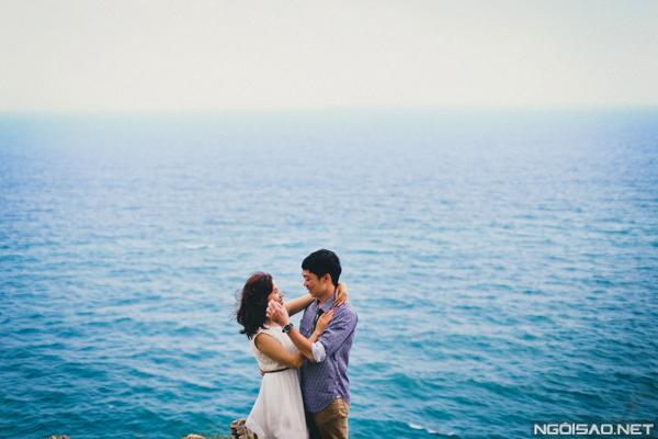 Hình cưới đẹp dưới nắng hoàng hôn Côn Đảo