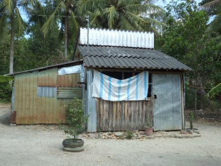 Nhà của Phong, nơi bị cáo gây ra tội ác dã man