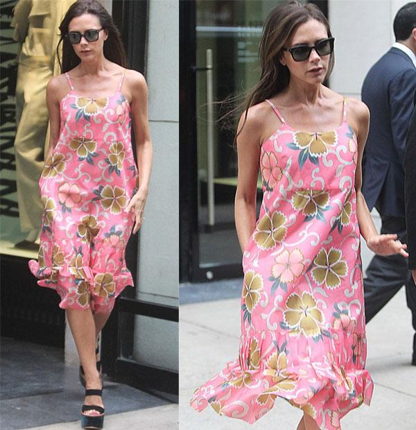 Cơn gió nhẹ thổi tung tà váy mang tới hình ảnh một bà Becks