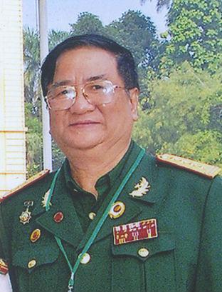 Di ảnh Đại tá Lương Tiến Đại.