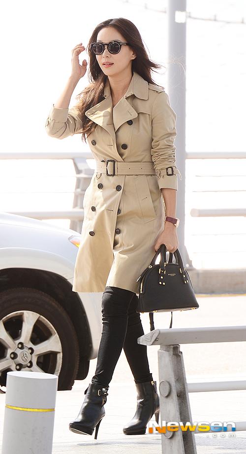 Go So Young lọt vào tầm ngắm paparazzi khi xuất hiện tại sân bay hôm cuối tuần.