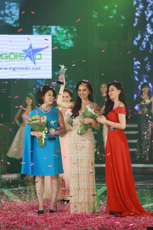 Thu Hiền đăng quang Miss Ngôi Sao 2014