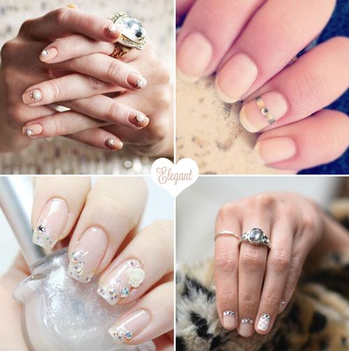 Gợi ý mẫu móng tay dễ thương cho cô dâu