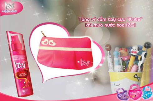Khi mua một sản phẩm Izzi bất kỳ tại các cửa hàng và siêu thị trên toàn quốc, khách hàng sẽ nhận ngay một ví cầm tay cá tính