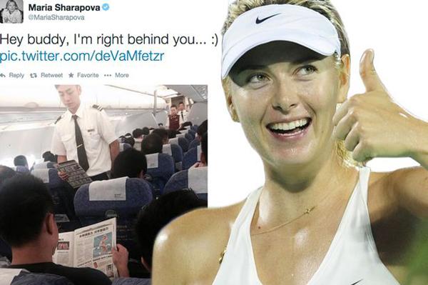 Sharapova thích thú