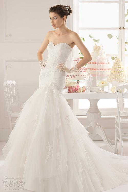Gợi ý mẫu váy cưới cúp ngực cho cô dâu