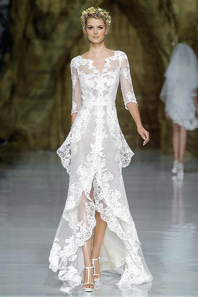 Tinh tế, lãng mạn với váy cưới ren mùa thu