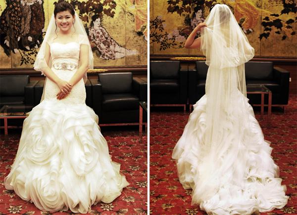 Cô dâu đặt may váy cưới Vera Wang ở Hà Nội