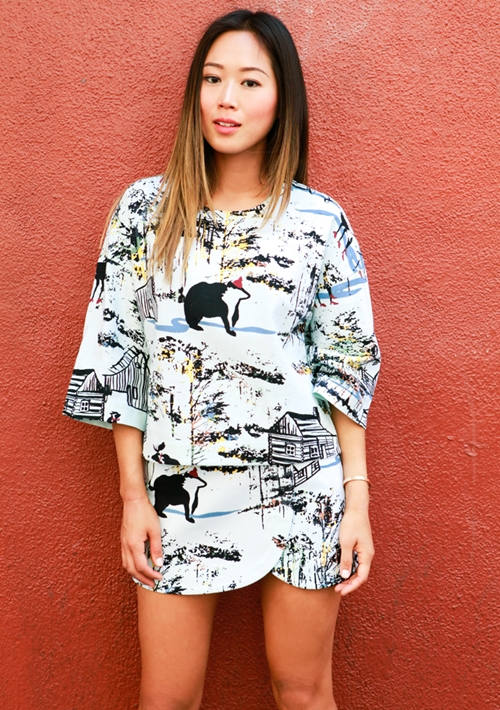 4-Song-of-Style-Tibi-Forest-Print-Top-Mi