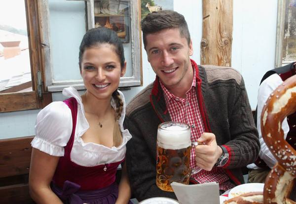 Lewandowski và bà xã Ana