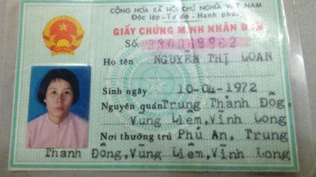 Đối tượng Nguyễn Thị Loan