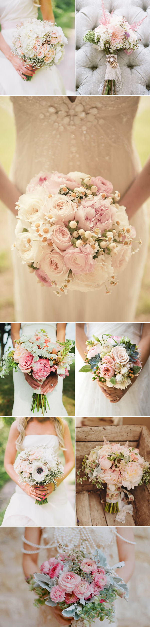 Chọn hoa cưới hồng ngọt ngào cho cô dâu