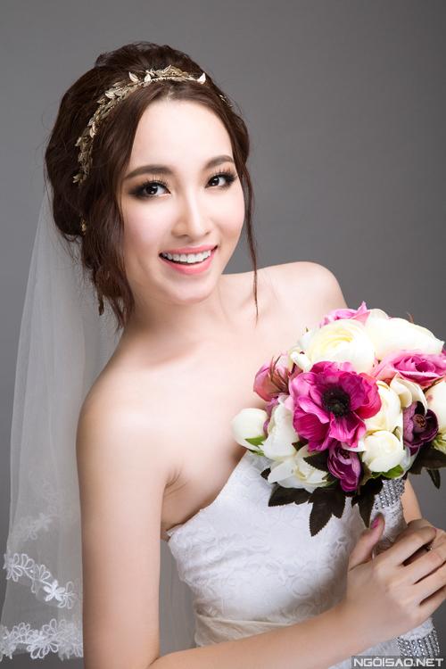 Cô dâu cá tính với tone trang điểm màu nâu rêu