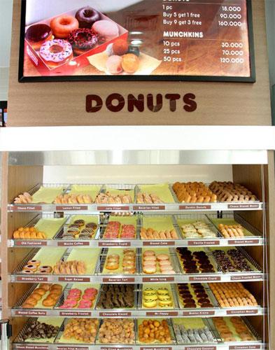 Dunkin Donuts đã phối hợp với Công ty VFB để ra mắt thực đơn phong phú và phù hợp với khẩu vị của người Việt