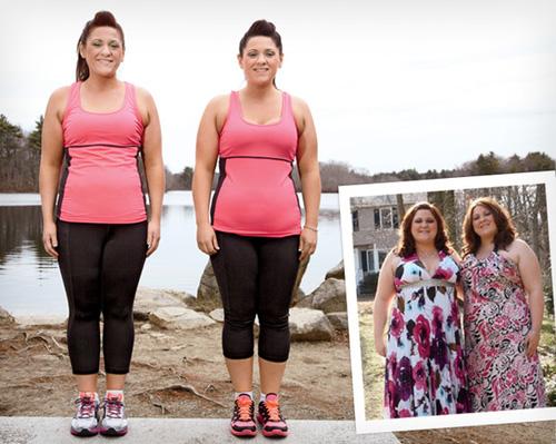Cặp chị em sinh đôi cùng nhau giảm 40 kg - Làm đẹp