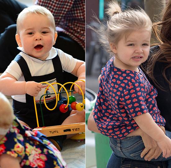 Hoàng tử bé George và cô nhóc Harper là hai em bé ai cũng yêu quý.