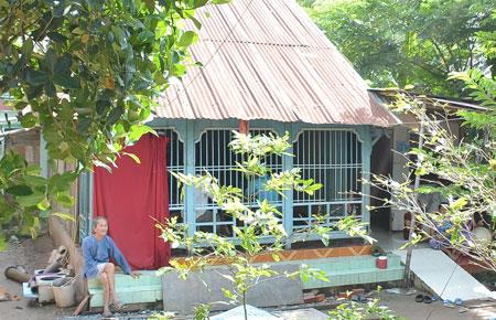 Ngôi nhà nơi mẹ và em ruột anh Nam đang sinh sống